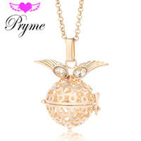 animal sounds music - Pryme mm Angel Caller Wings Owl Cage Sound Pendant Sweater Chime Necklace Engelsrufer Angel Bola Music Harmony Ball JewelryL007