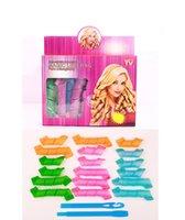 Wholesale 18pcs Set DIY Magic Leverag Hair Curlers Rollers Hair Styling Tools Curler length cm length cm hooks cm Diameter