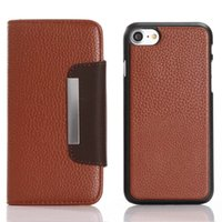 For Apple iPhone hard iphone purse - for iphone plus S Plus S C SE S Hard PC in Litchi Leechee Wallet Leather Pouch ID Credit Card case Hybrid Purse