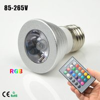 atmosphere controller - 1Pcs E27 RGB LED Night light AC85V V W Colors Dimmable Decor Atmosphere Spotlight Bulb LED lamp with IR Remote Controller