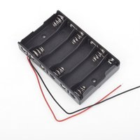 Cheap 1pc 6 x 1.5V AA 2A CELL Battery Batteries Holder Storage Box 9V Case With Lead Wire