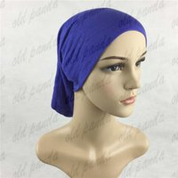 Wholesale Fashion Hijab Tube Turban Hats Under Scarf Bonnet Inner Muslim Cotton Jersey Caps Cover Inner Islamic Wrap Head Wear