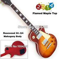 Wholesale Standard Electric Guitar LP VOS Reissue R9 Flamed Maple Top High Quality Retail Real photo showing