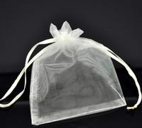 Wholesale Bags Organza Bags Wedding Gift Bags Ivory Organza Wedding Gift Bags Pouches x9cm