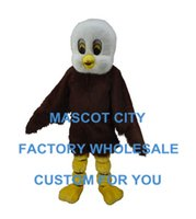 baby eagles - plush Eagle Baby Mascot Costume Adult Size Cartoon Character Carnival Costume Outfit Party Suit SW820