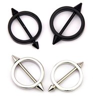 barbells piercing - 6PCS Fashion Nipple Barbells Pair L Surgical Steel Round Circle Nipple Piercing G Nipple Rings