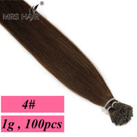 cold fusion hair extensions - 4 Keratin Human Hair Extensions I Tip g pc Dark Brown Stick Human Hair Fusion Cold Fusion Remy Hair quot quot quot