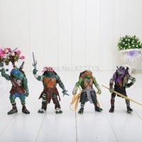 Wholesale 100Sets Anime Cartoon TMNT Teenage Mutant Ninja Turtles PVC Action Figure Toys Dolls EMS Free