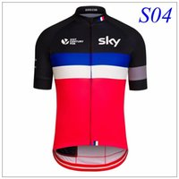 Wholesale Brand NewTeam Sky Bicycle Cycling Jersey Tour De France Cycling Tops Bike Bicicleta Ciclismo Bikes Coat Maillot Ropa Clothing Size XS XL