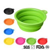 Wholesale Silicone Folding Bowl Folding Portable Pet Bowls Collapsible Bowl for Food and Water Expandable Travel Bowl