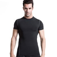 Wholesale Men s PRO sports training running tight T shirt quick dry spring polyester running shirt