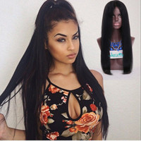 Wholesale human hair full lace wigs straight lace wig free part natural color high density wig with baby hair natural hairline