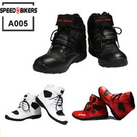 Wholesale Pro biker SPEED Motorcycle Boots Moto Racing Motocross Motorbike Shoes A005 Black White Red size