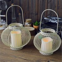 Wholesale Iron Jewelry Electronin candle Holders Creative Gifts LANTER shape Candle Holder three color to choose Festival Decoration