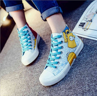 beef color - In the spring of beef tendon hand painted high help female canvas shoes Ryan cloth shoes students new shoes for women s shoes