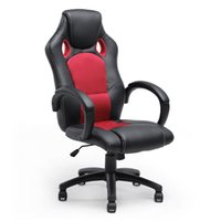 executive chair - Executive Racing Office Chair PU Leather Swivel Computer Desk Seat High Back Red