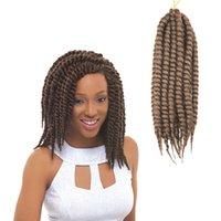 Wholesale 6pcs Havana Mambo Twist Crochet Braid Hair Senegalese Twist Hair Crochet Synthetic Hair Kanekalon Kinky Marley Twist Braids