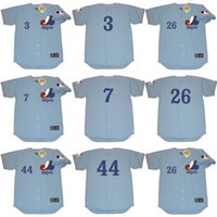away bailey - Men BILL STONEMAN BOB BAILEY BOBBY WINE CARL MMontreal Expos Majestic Cooperstown Away Baseball Jersey stitched