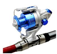 Wholesale Fishing reel SA4000 Fishing Rod Sea Rod Plastic Head Fishing Tackle Tool Folding Spinning Fishing Vessel Silver Blue OUT022