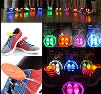 Wholesale 2016 LED Shoelaces Shoe Laces Flash Light Up Glow Stick Strap Shoelaces Disco Party Skating Sports Glow Stick pair