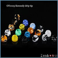 Wholesale New arrival resin drip tip multicolors kennedy top tips mouthpiece fit rda atomizer protank subtank low price