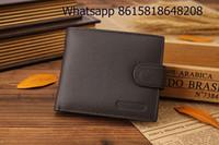 Wholesale Coin Purses Sale - high quality men short purse wallet magnet split leather fashion trifold wallet for men 2 colors hot sale