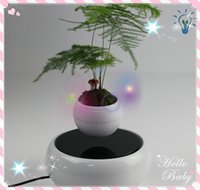 angels display - 20 dhl free new magnetic levitating floating plant flower display stands rotating air bonsai plants display stands