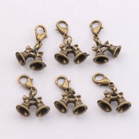 antique bronze bell - 2016 hot x26mm Antique Bronze Christmas Bells Lobster Claw Clasp Charm Beads Jewelry DIY C796