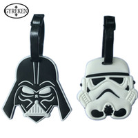 Wholesale Classic Lovely Cartoon film Star Wars Stormtrooper Black Knight Suitcase PVC luggage tags Travel Name Tag