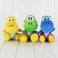 mario plush - 18cm Styles Super Mario Yoshi Plush Toy Soft Stuffed Doll Toy for kids gift toy retail