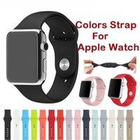 Wholesale Colors Silicone Band With Connector Adapter Clip For Apple Watch Silicon Strap For iPhone iWatch Sport Buckle Bracelet DHL OTH219