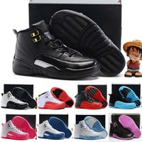 Wholesale 2016 Retro XII French Blue Pink Master OVO Kids Basketball Shoes Girl Boy s High Quality Sport Shoes Youth Basketball Sneakers