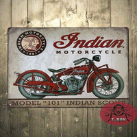 Wholesale Vintage Tin signs Indian motorcycle plaque art wall decor iron Paintings Bar shop Garage decor CM C
