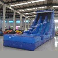 Wholesale AOQI newest inflatable product commercial used inflatable water slide classic inflatable water pool slide for summer made in guangzhou