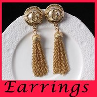 beautiful sapphire - European luxury Super beautiful Korea retro exaggerated fashion temperament long pearl nightclub female big earrings earrings earrings jewel