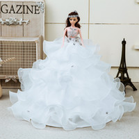 Wholesale Junior Dream big Barbie doll wedding dress child bride wedding married female birthday gift and retail Decoration