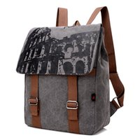 backpack outlet - 4 kinds of New Canvas Shoulder Bag Bag Lady Color Large Discount Factory Outlets Air Transport a Grant from the Men s Backpack