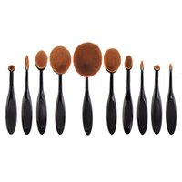 Wholesale Oval Makeup Brush In the Box Beauty Toothbrush Shaped Foundation Power Makeup Oval Cream Puff Brushes Sets set