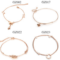 Wholesale New products listed Stainless Steel rose gold anklets women jewelry