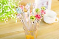Wholesale 12pcs A Gel Pen cute school supplies gel pens set crystal pens kawaii stationery pen marker diamond pen Parker ink gel