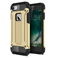 armor protective packaging - iphone plus S plus case Anti collision Steel armor TPU PC cell phone protective covers for s se Opp Package