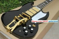 Solid Body 6 Strings Mahogany Custom Shop 400 Electric Guitar Black sg With tremolo Electric Guitar free shipping China guitar New Style