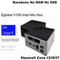 barebone systems - Barebone System Mini PC Intel Nuc Fanless Computer Haswell i3 i7 HD Graphics HTPC K Kodi Mini DP HDMI Gigabit Nic M wifi