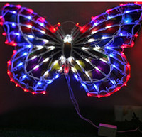 ac activities - 50cm Big Butterfly Outdoor Decorative Led Flash Lights Window Decoration Lights Wedding Bows Activities Decoration