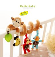 baby monkey high - High quality sozzy baby plush toys multi function music bed monkey around with BB is wound bed