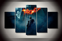 begin painting - 5 Set No Framed HD Printed batman begins dark knight Painting on canvas room decoration print poster picture canvas artwork oil painting