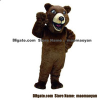 Wholesale Grizzly Bear Mascot Costumes Cartoon Character Adult Sz Real Picture2