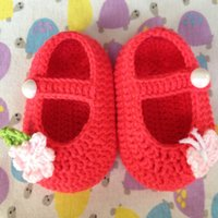 Wholesale Crochet Shoes Baby Prices - Free shipping Handmade Crocheted Baby Booties, Crochet Baby Pure Color shoes Butterfly love flower Best Price and High Quality Free Shipping