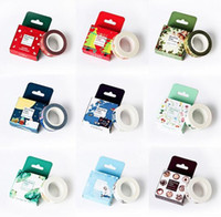 Wholesale Size mm m DIY Vintage floral Cat paper washi tapes decorative Adhesive Tape masking tape Stickers School Supplies