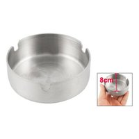 Wholesale Promotion Hot And Ntainless Steel Round Cigarette Ashtray cm Dia Silver Tone